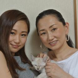 美人家族に迎えられた美猫クロエちゃん