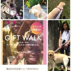 沢山お散歩してアフリカの子供に給食をとどけよう!