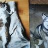 写真整理で出てきた虹の橋組の愛猫あおと実家わんこ那智。懐かしく、愛しい。