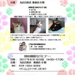 ねこ譲渡会&地域猫セミナー@丸広デパート8階