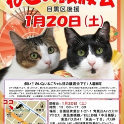 ★1月20日(土)「ねこの譲渡会(目黒区後援)」smile cat@中目黒(室内)