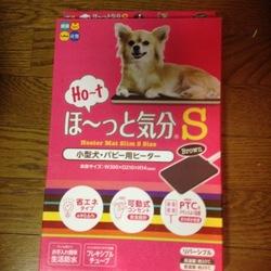 ペット用電気ヒーターを買いました。