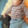 ちーちゃんと一緒にお昼寝 おちびちゃん。 ちーちゃんは本当に優しい可愛い子でした