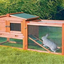ウサギの外飼い用ゲージ
