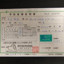 2018.9/12 5種混合ワクチン接種