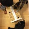 子供達お手製のネズミ堀遊び♡子供がいつまででもやり続けて、どっちが遊んでもらってるのか。皆んなで楽しそう(^_^)
