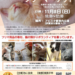 保護猫の譲渡会&フリーマーケット