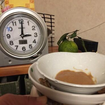 深夜食堂…朝晩のお薬の時間は夕方18時と明け方3時〜朝になるともう居ないから(^_^;)
