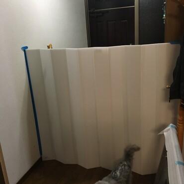 プラスチックダンボールで手作り☆玄関脱走防止対策