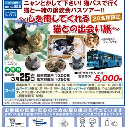 猫バスで行く猫と一緒のバスツアー~心を癒してくれる猫との出会い旅~